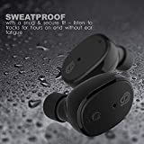 StealthBeats - Bluetooth Wireless Headphones with Microphone [INVISIBLE EARPHONES] Running Earbuds with Dock Charger - Noise Cancelling