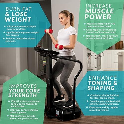 Bluefin Fitness Vibration Platform | Pro Model | Upgraded Design with Silent Motors and Built in Speakers 4