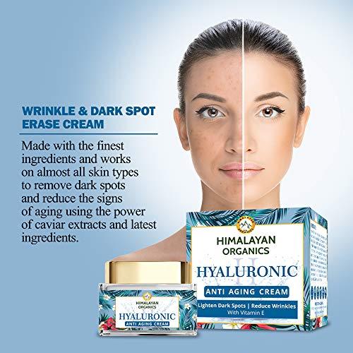 51 WCOcAh0L - Himalayan Organics Hyaluronic Acid Anti Aging Cream for Under Eye Dark Circles, Anti Wrinkle, Skin Brightening, 50 ml