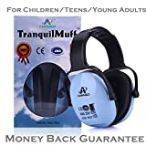 Hearing Protection Earmuff/Headphone for Toddlers, Kids, Teens, Infants, Adults. Amplim Noise Cancelling Headphones, Earmuffs for Kids Ear Defenders - Airplane, Concert, Outdoor, Lawn Mower - Blue