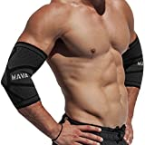 Mava Sports Tennis Elbow Brace for Tendonitis (Pair) - Elbow Compression Sleeves for Tennis, Workouts, Weightlifting, Golfer's Elbow Treatment, Basketball- Reduce Joint Pain & Elbow Support