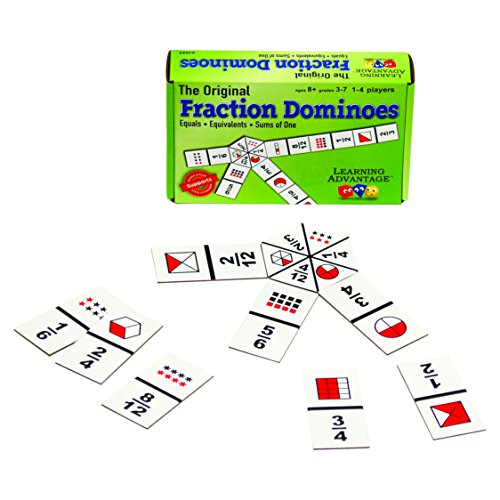 Learning Advantage 4080 The Original Fraction Dominoes Game, Grade: 3 to 7, 6.5