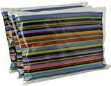 Bentology Ice Packs for Lunch Boxes (3 Pack) New Durable Material, Non-Toxic, Reusable, Long Lasting, Eco Friendly (6'x4.5') - Stripe
