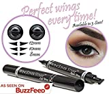 Winged Eyeliner Stamp - Wingliner by Lovoir Black, Waterproof Make Up, Smudgeproof, Long Lasting Liquid Eye liner Pen, Vamp Style Wing, 2 Pens In A Pack
