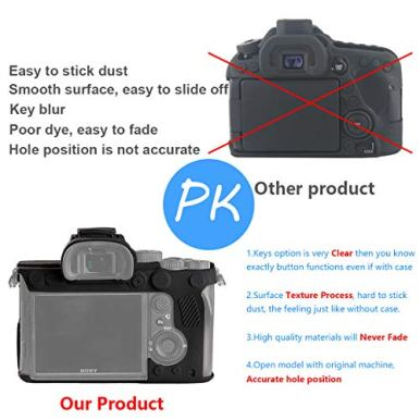 STSEETOP-Sony-A7R-IV-Case-Professional-Silicone-Rubber-Camera-Case-Cover-Detachable-Protective-for-Sony-A7-RIV-Sony-ILCE-7RIV-A7R4-for-Sony-A7RIV-Black