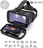 VR Glasses, Virtual Reality Headset, 3D IMAX Movie/Game Viewer Compatible iPhone XR Xs X 8 7 6 S Plus Samsung Galaxy S9 S8 S7 S6 Edge + etc 4.0-6.33' Cellphone