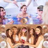 Dsaren-29-Pcs-Enterrement-de-Vie-de-Jeune-Fille-Accessoire-Voile-de-Marie-avec-Peigne-Lunettes-de-Soleil-Ceinture-Satin-Tatouages-MarieTiare-Rosette-Badge-Ballons-pour-Bridal-Shower-Party-Supplies