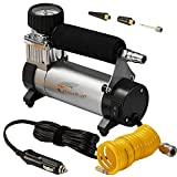 Portable Air Compressor, Hausbell Air Compressor Kit Mini DC12V Multi-Use Oil-Free Air Tools Tire Inflator