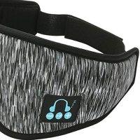 IPOTCH uyku kulaklığı, 3D göz maskesi, Bluetooth 5.0 kablosuz müzik maskesi, göz farı kapağı, göz farı kapağı, erkek kadın uyku, seyahat için, koyu gri 18