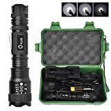 CVLIFE LED Tactical Flashlight 5 Modes Belt Clip Mini Torch Light Rechargeable(18650 Battery Included) Zoomable Focus 800 Lumen IPX6 Water Resistant Best Camping Outdoor Emergency Flashlights