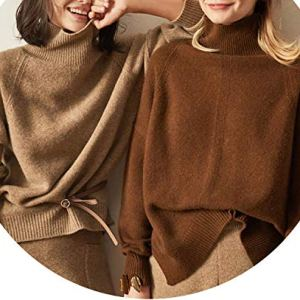Women Cashmere Wool Sweaters Pullovers Turtleneck Casual Pullovers Solid Female Knitted Jumpers
