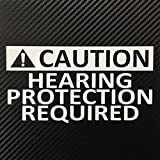 Caution Hearing Protection Required JDM Turbo Style Decal Sticker Custom Die-Cut Vinyl Lowered Hella Drift Illest Import