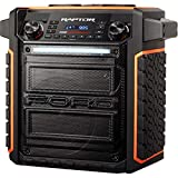 ION Audio Raptor   Portable Wireless Speaker 100-watt Water-Resistant with Bluetooth Streaming, 75-hour Rechargeable Battery, AM/FM Radio and Multi-Color Light Bar