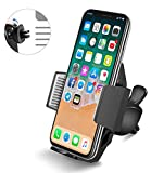 ilikable Car Phone Holder Mount, Air Vent Phone Mount with Quick Release Button and Firm Grip Holder Compatible Samsung Galaxy LG GPS and More (Black)