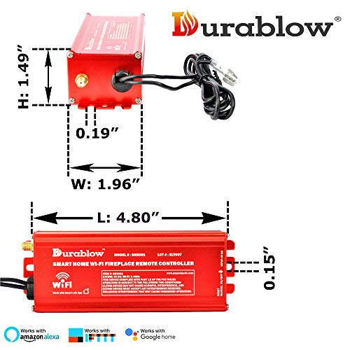 Durablow-SH3001-Gas-Fireplace-Millivolt-Valve-WiFi-Smart-Home-Remote-Control-Works-with-Amazon-Alexa-Google-Home-IFTTT-OnOff-Timer-Smart-Functions