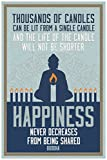 Thousands of Candles Happiness Buddha Quote Art Print Poster - 12x18