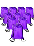 20 Pieces Drawstring Backpack Sport Bags Cinch Tote Bags for Traveling and Storage (Purple, Size 1)