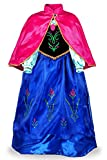 JerrisApparel Snow Party Dress Queen Costume Princess Cosplay Dress Up (6-7, Anna)