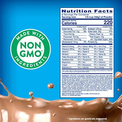 PediaSure Grow and Gain Non-GMO and Gluten-Free Shake Mix Powder, Nutritional Shake For Kids, With Protein, Probiotics, DHA, Antioxidants, and Vitamins & Minerals, Chocolate, 14.1 oz, 3 Count 5