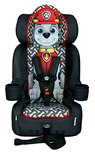 KidsEmbrace Paw Patrol Car Seat Booster, Nickelodeon Marshall Combination Seat, 5 Point Harness, Black, 3001MAR