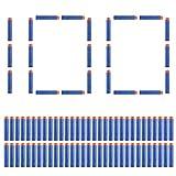100PCS Refill Form Darts Soft Bullets for Nerf N-strike Elite Blasters Kid Toy Guns (Blue)