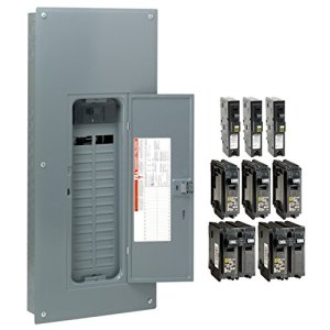 Square D by Schneider Electric HOM3060M200PCAFVP Homeline 200 Amp 30-Space 60-Circuit Indoor Main Breaker Load Center with Cover – Value Pack (Plug-on Neutral Ready), ,