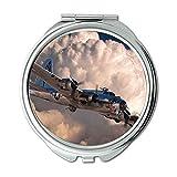 Yanteng World war Aircraft,Mirror,Compact Mirror,Fighter Guide Pathfinder,Pocket Mirror,Portable Mirror