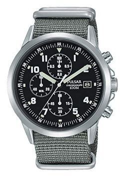Mens Pulsar Military Style Chronograph Watch PM3129X1 - Formally and Enhanced PJN305X1