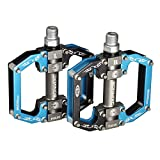 BONMIXC Bicycle Pedals 9/16' MTB BMX Dh Platform Pedals Cycling Sealed Bearing Bike Pedals
