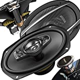 Pioneer 6 Inch X 9 Inch 6x9 700W 5-Way A-Series Coaxial Car Speakers System + Free Gravity Mobile Bracket Holder