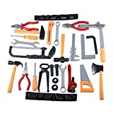 Gresdent Construction Party Supplies 28Pcs Kids Toy Tools Sets Plasic Toys Tool Screwdriver Pliers Pipe Wrench Ax Repair Mechanic