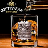 English Pewter Company Vintage Years 1969 50th Birthday or Anniversary Old Fashioned Whisky Rocks Glass Tumbler - Unique Gift Idea For Men [VIN003]