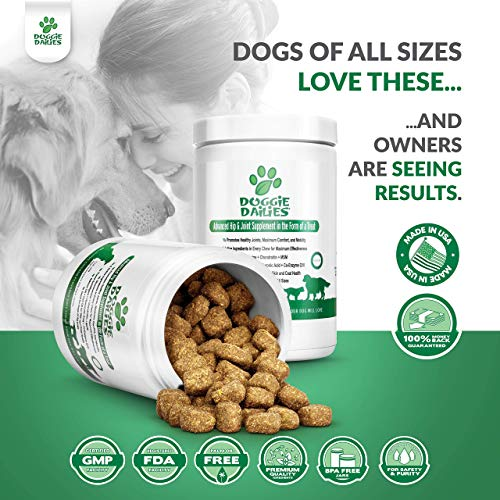 Doggie Dailies Glucosamine for Dogs: 225 Soft Chews, Advanced Hip & Joint Supplement for Dogs with Glucosamine, Chondroitin, MSM, Hyaluronic Acid & CoQ10, Premium Joint Relief for Dogs Made in the USA 3