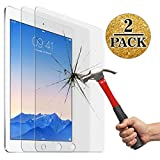 Screen Protector for New iPad 9.7inch (2017),IPad Air 1 2/Ipad Pro 9.7 Inch (2 packs), Jusney 0.33mm Ultra Thin 9H Hard Crystal Clear Tempered-Glass High Response 3D Touch