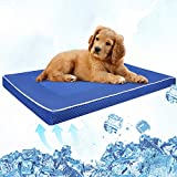 Isbasa Dog Cooling Mat, 29x18x1.7inch Extra Large Nylon Oxford Self Cooling Pad, Keep Your Dog Cool in This Summer