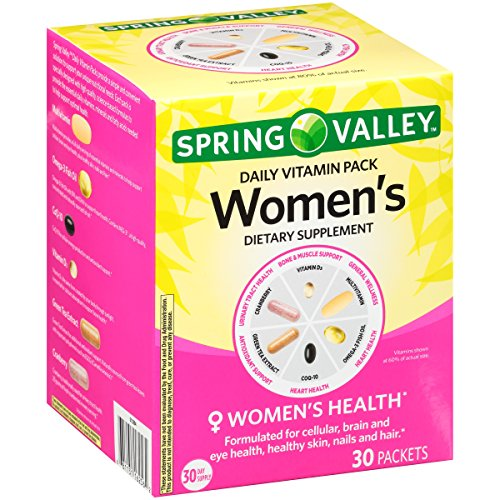 Spring Valley Women's Daily Vitamin Pack Dietary Supplement 30 ct Box