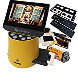 Wolverine Titan 8-in-1 20MP High Resolution Film to Digital Converter with 4.3' Screen and HDMI output, Worldwide Voltage 110V/240V AC Adapter Plus (3) Wolverine Slide Trays (Bundle)