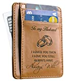 Memory Wife To Husband Gift, Best Anniversary Gifts For Him slim Wallet Card Holder