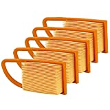 HIFROM Pack of 5 Air Filter (with Detailed Size) Fit for Stihl BR500 BR550 BR600 4282-141-0300 4282 141 0300 4282 141 0300B Backpack Blowers Parts