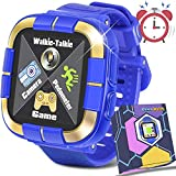 GBD 2019 New Kids Games Smart Watch Fitness Tracker [Walkie Talkie Pro ] for Boys Girls Holiday Birthday Gift Kids Digital Wrist Watch with Pedometer Camera Education Electronic Learning Toys (Blue)