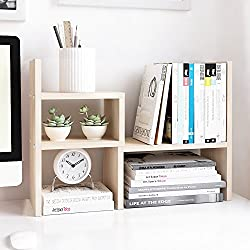 Jerry & Maggie Desktop Organizer Office Storage Rack Adjustable Wood Display Shelf | Birthday Gifts - Toy - Home Decor | - Free Style Rotation display - True Natural Stand Shelf