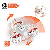 UK BONITOYS BoniToys 2018 Hottest Flying Fidget Spinner, Outdoor Tiny Drone Multi-Player Interactive Toys for Adults Kids Friend and Family, White - 12 Months Warranty