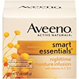 Aveeno Smart Essentials Nighttime Moisture Infusion, 1.7 Oz (Pack of 3)