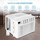 DELLA Remote Control 6000 BTUs Up To 250 SQ FT 115 V Window Mounted Air Conditioner Washable Filtered Energy Star White