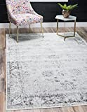Unique Loom Sofia Collection Traditional Vintage Gray Area Rug (8' x 10')