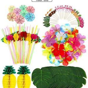 WLB WLD Hawaiian Decoration Set Tropical Jungle Party Decoration Hawaiian Party Supplies Adorable (Size : 188pcs) 510GOLP JwL