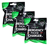 ChargeTab Emergency Phone Charger 3 Pack Compatible with iPhone