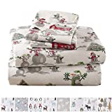 Home Fashion Designs Stratton Collection Extra Soft Printed 100% Turkish Cotton Flannel Sheet Set. Warm, Cozy, Lightweight, Luxury Winter Bed Sheets Brand. (Full, Winter Wonderland)