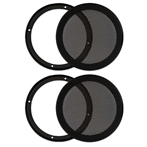 Goldwood Sound, Inc. Monitor Speaker And Subwoofer Part, Heavy Duty Steel Mesh Snap On Woofer Grills for 6.5' 2 Grill Pack (SG-M6-2)