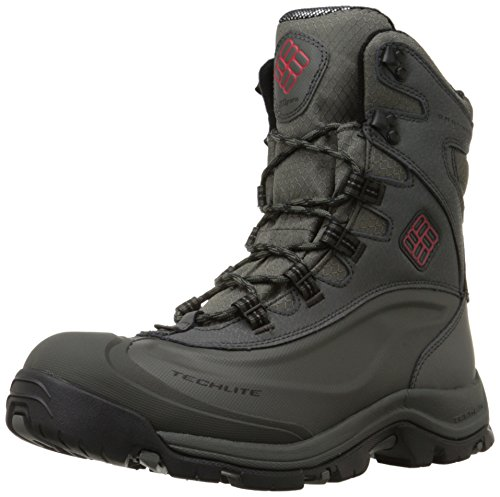 Columbia Men's Bugaboot Plus III Omni Cold Weather Boot, Charcoal/Bright Red, 7.5 D US